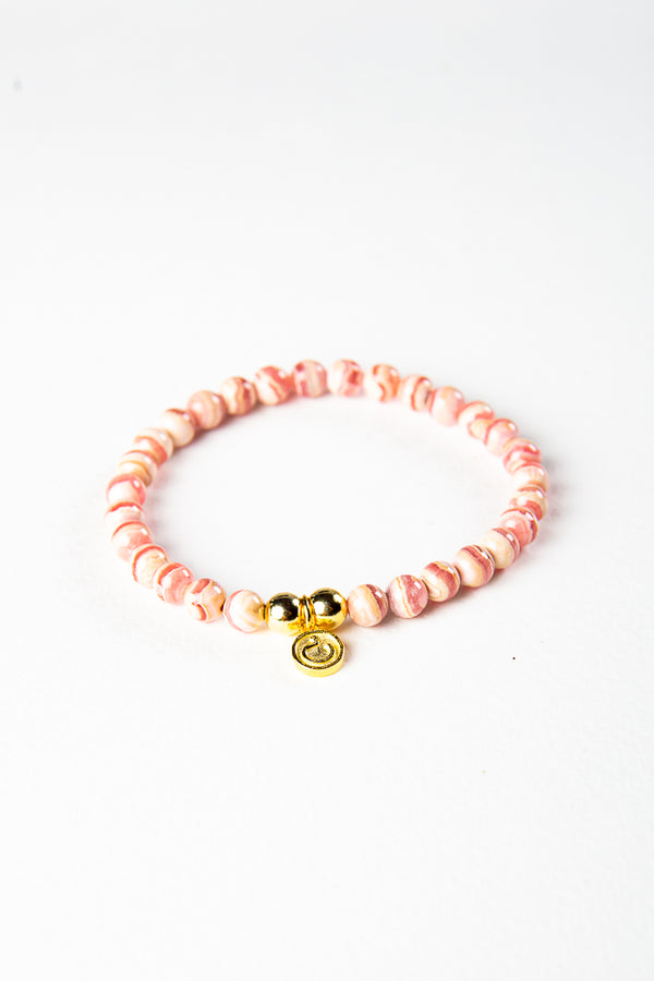 Luxe — Rhodochrosite and Gold Bracelet (online exclusive)