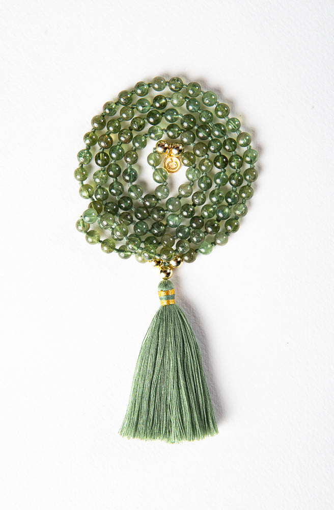 Luxe —  Green Apatite and Gold Mala (online exclusive)