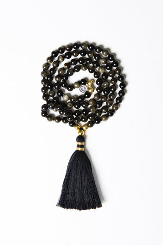 Luxe — Obsidian and Gold Mala (online exclusive)