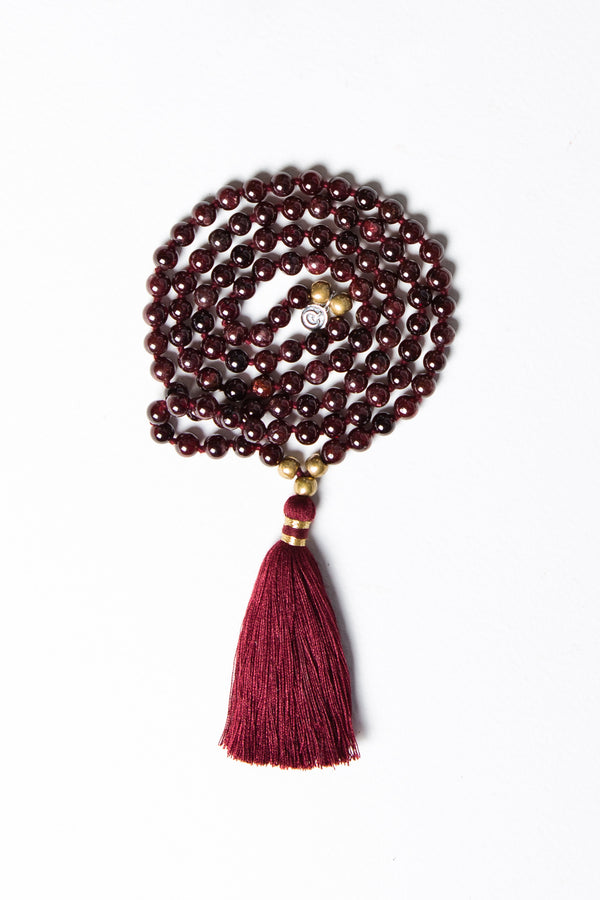 Luxe — Garnet and Bronze Mala (online exclusive)