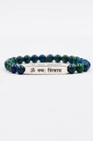 Shiva Sanskrit Mantra Bracelet by Mala Collective.