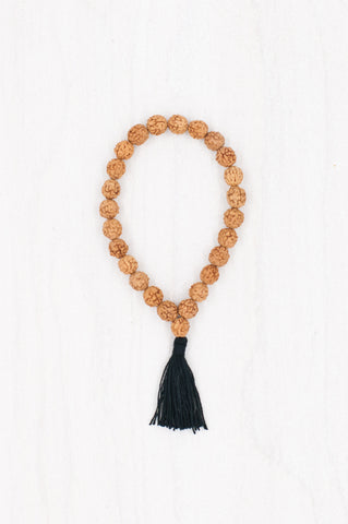 A simple yet sacred combination of rudraksha beads forms this perfect bracelet.