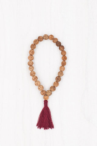 A simple yet sacred combination of rudraksha beads forms this perfect bracelet