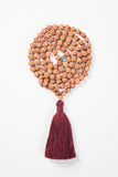Meditate Mala - Traditional Burgundy Rudraksha