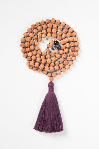 Meditate Mala - Purple Rudraksha
