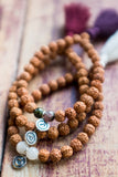 Meditate Bracelet - Traditional Burgundy Rudraksha