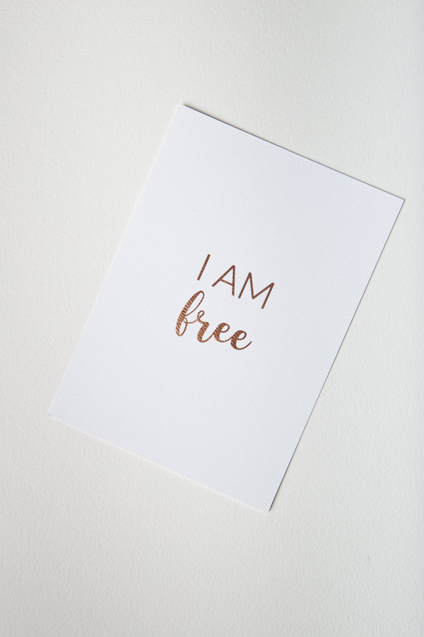 Affirmation Card — I Am Free