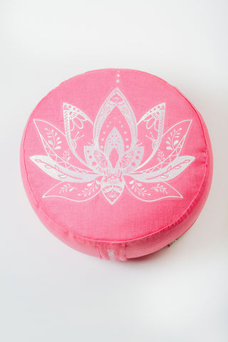 Meditation Cushion — Peaceful Lotus