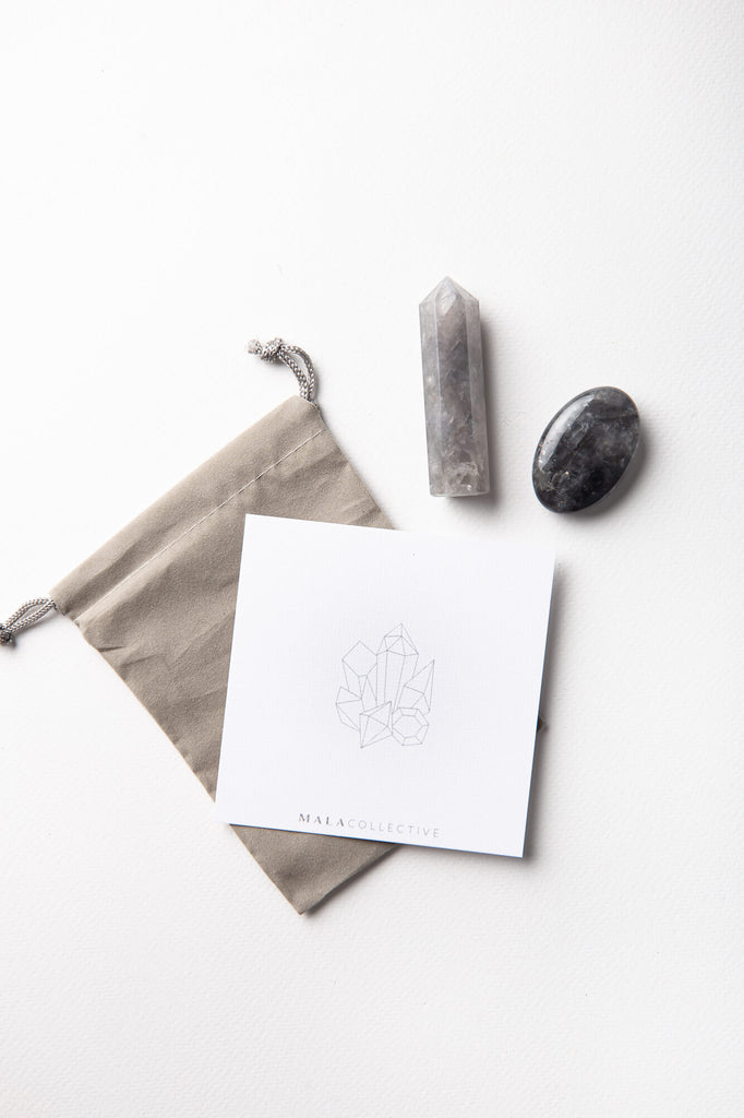 Grey Quartz Wellness Crystal Set