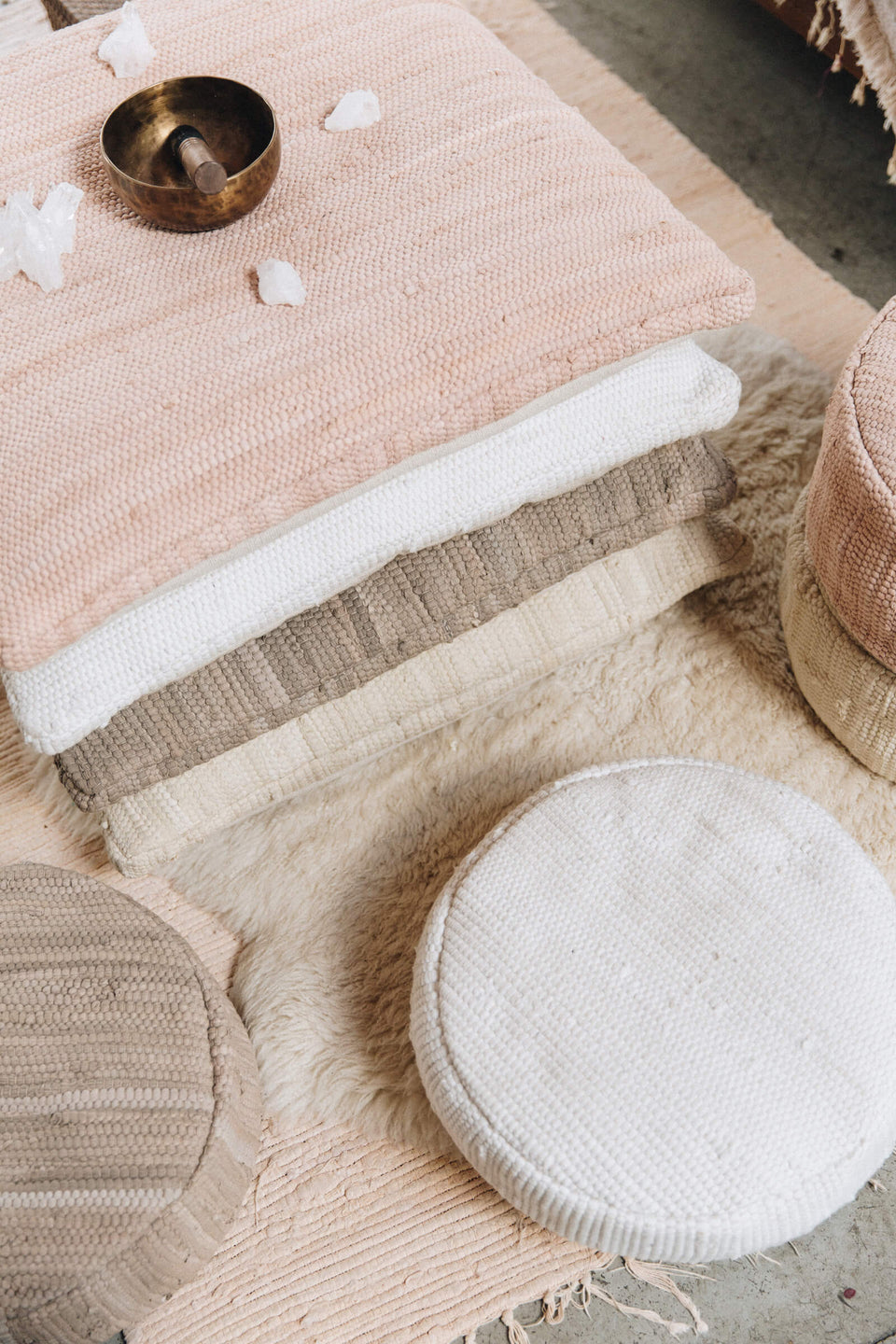 Meditation Cushion Round — Blush