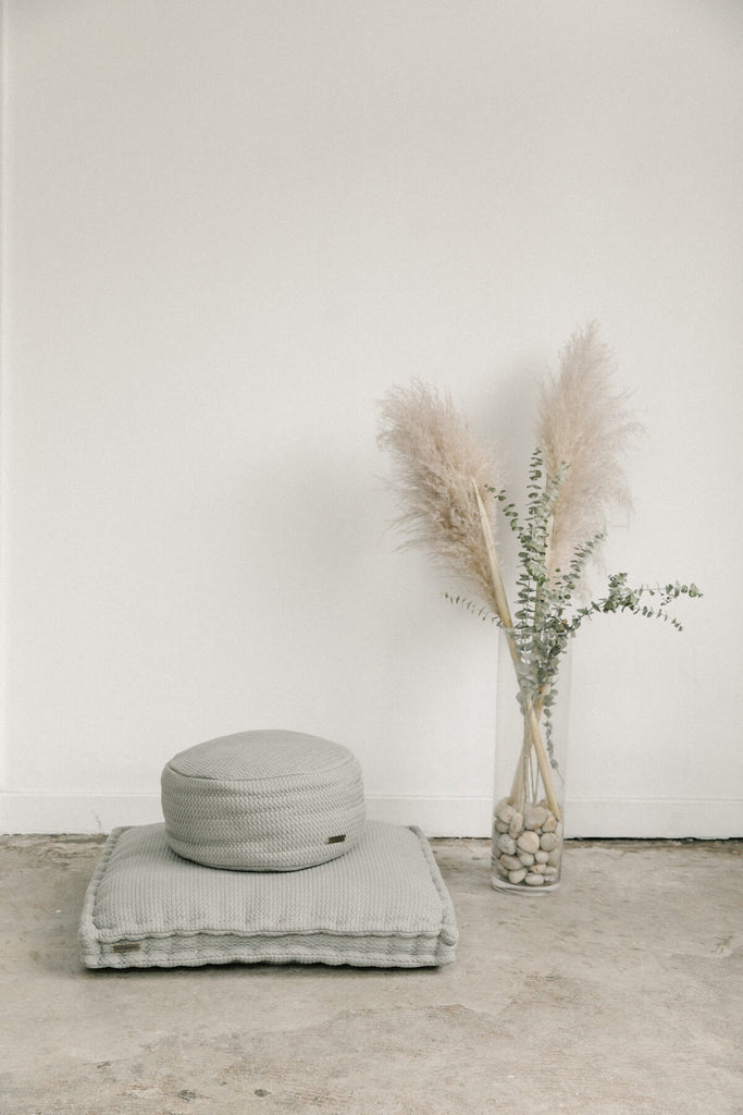 Cloud Grey Woven Meditation Cushion (Sit Set)
