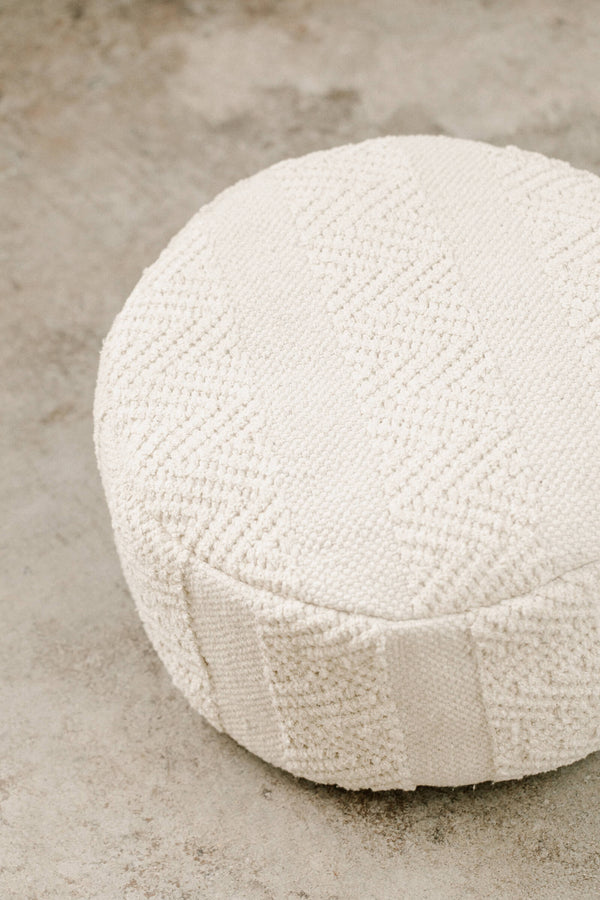 Overstuffed Woven Meditation Cushion (Small Round)