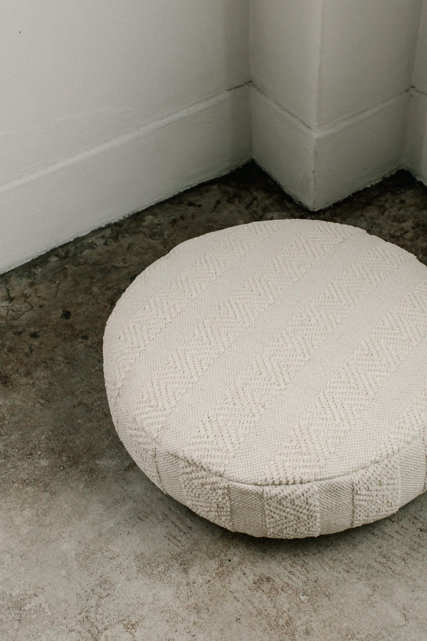 Overstuffed Woven Round Pouff (Large Round)
