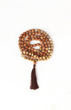 My Practice is Nurturing Mala made with Rudruksha and Leopard Skin