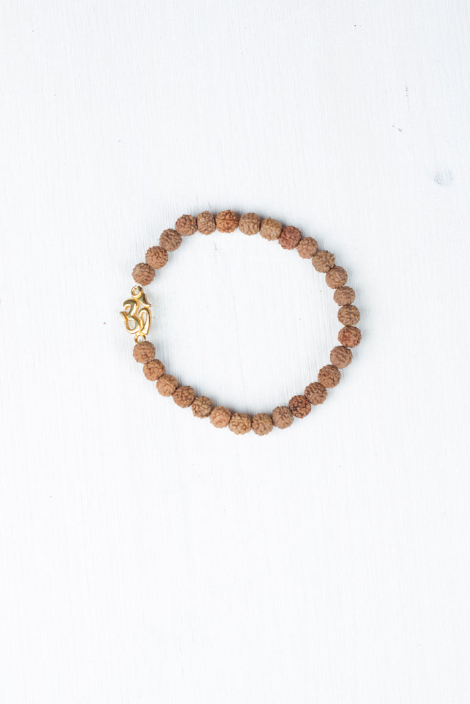 Golden Om Bracelet by Mala Collective