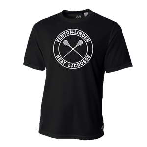 Fenton/Linden Lacrosse - Circle Heat Logo - Dri-Fit SS T-shirt - Black