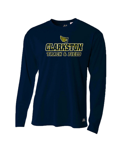 Clarkston T&F Logo Dri-Fit LS T-shirt - Navy