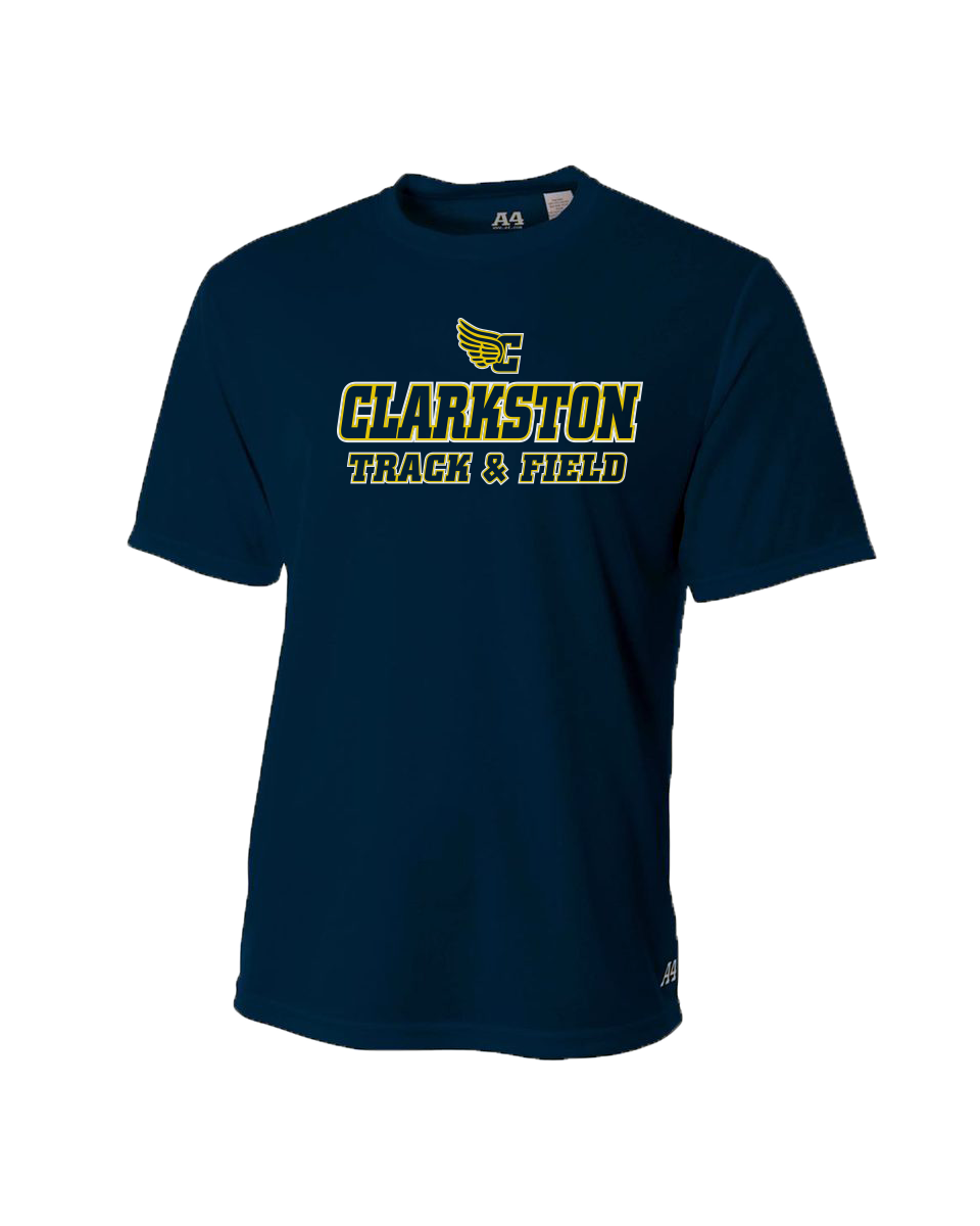 Clarkston Track Logo Dri-Fit SS T-shirt - Navy