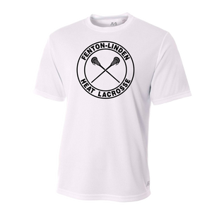 Fenton/Linden Lacrosse - Circle Heat Logo - Dri-Fit SS T-shirt - White