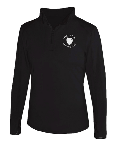 GFAC - Women's Quarter Zip - GFAC Logo - Black