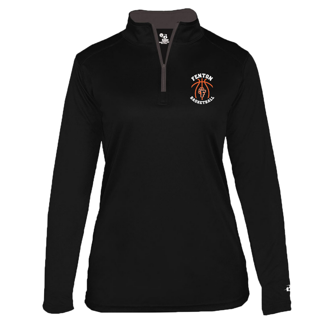 Fenton Basketball - Black - Women's 1/4 Zip Pullover