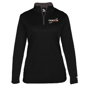 Fenton Fastpitch - Black - Women's 1/4 Zip Pullover