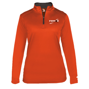 Fenton Fastpitch - Orange - Women's 1/4 Zip Pullover