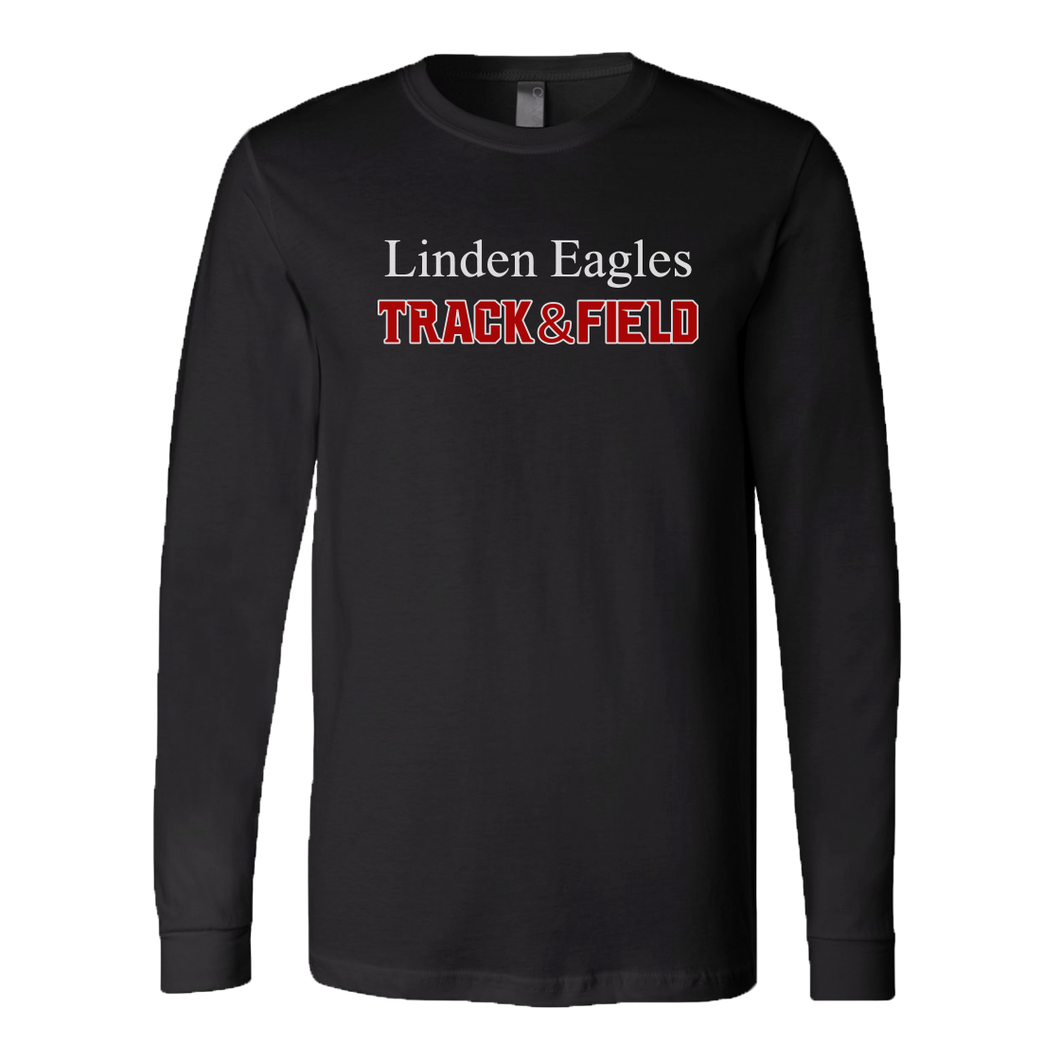 Linden T&F - Text Logo - LS Jersey Tee - Black