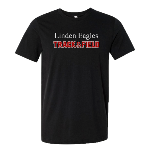 Linden T&F - Text Logo - Jersey Tee - Black