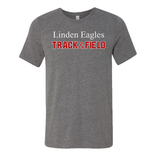Linden T&F - Text Logo - Jersey Tee - Deep Heather