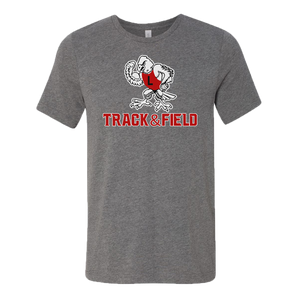 Linden T&F - Tuffy the Eagle Logo - Jersey Tee - Deep Heather