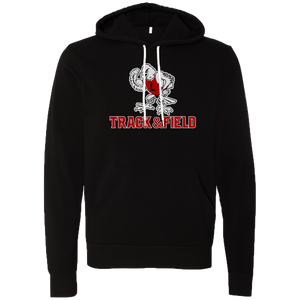 Linden T&F -Tuffy the Eagle Logo - Black Sponge Hoody