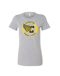 Women's Clarkston Winged C Circle Logo Favorite Tee - Athletic Heather
