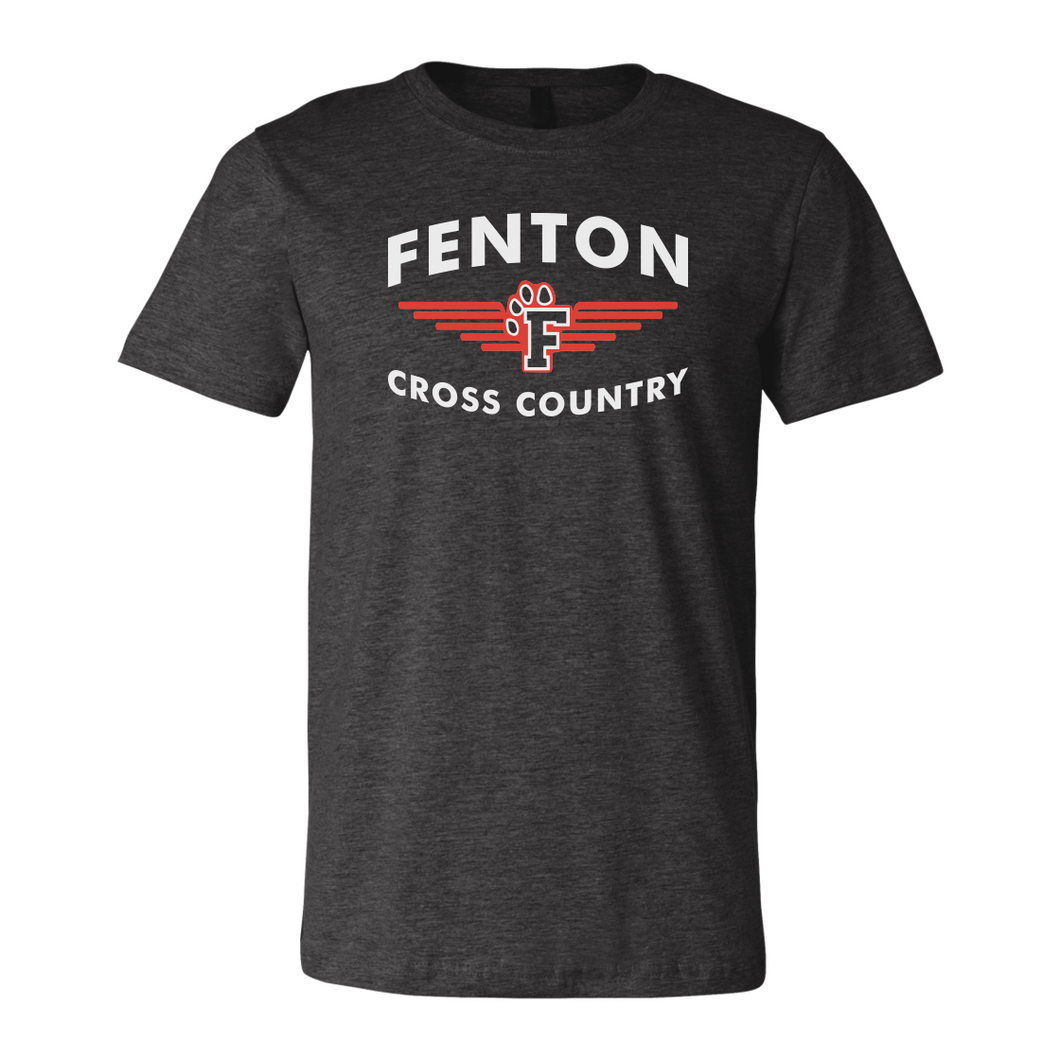 Fenton XC - FXC Logo - Jersey Tee - Deep Heather