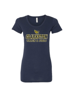 Women's Clarkston T&F Logo Triblend Tee - Navy