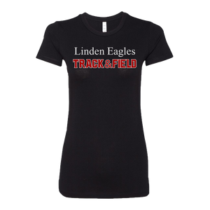 Linden T&F - Text Logo - Favorite Tee - Black
