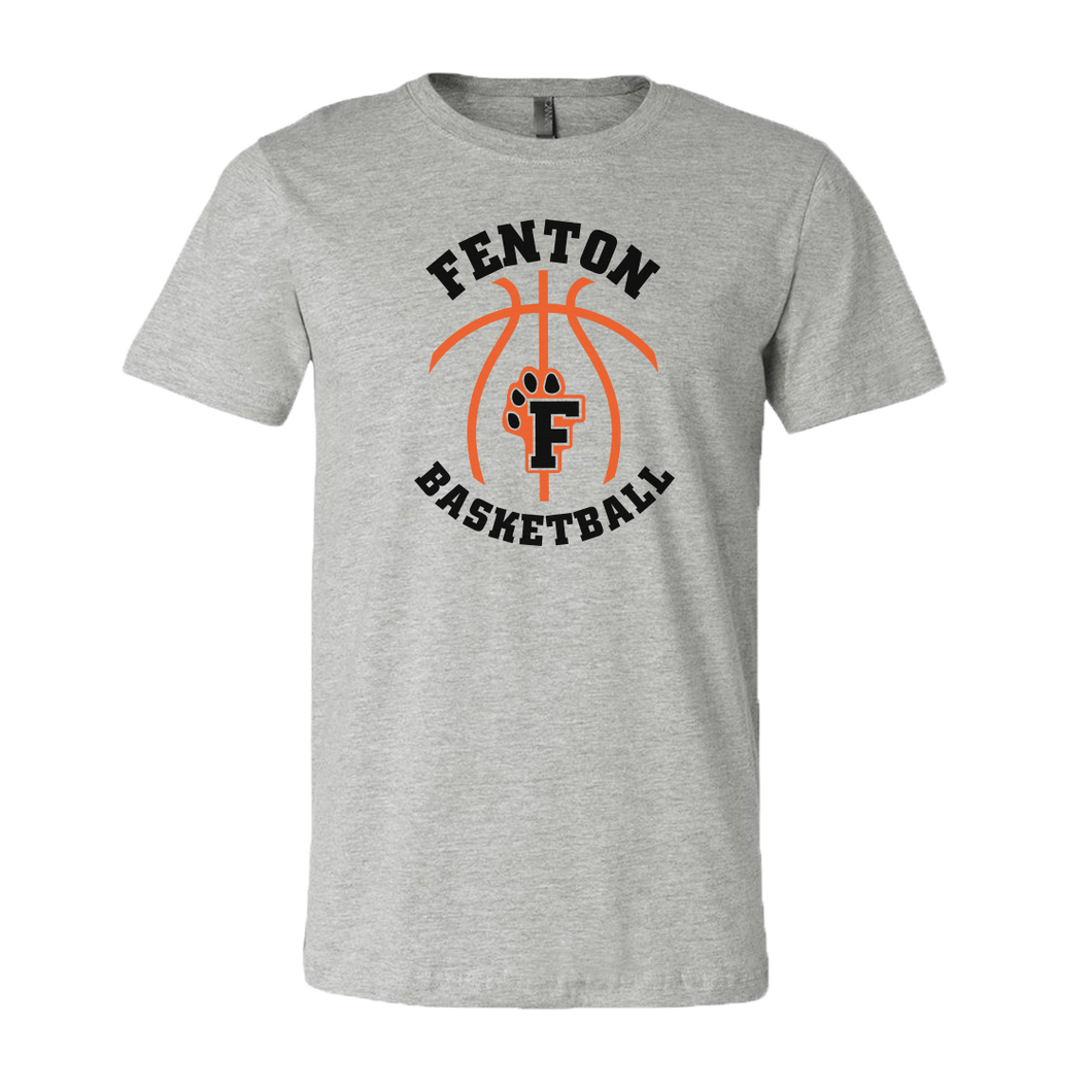 Fenton Basketball - Athletic Heather - Unisex Jersey Tee