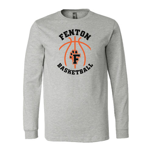 Copy of Fenton Basketball - Athletic Heather - LS Jersey Tee