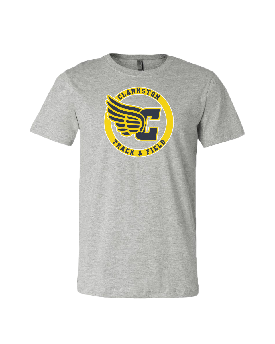 Clarkston T&F Winged C Jersey Tee - Athletic Grey
