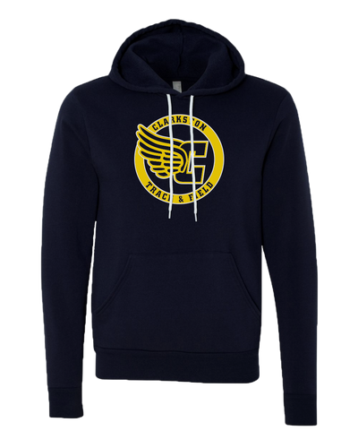 Clarkston T&F - Navy Sponge Sweatshirt - Clarkston Circle Logo