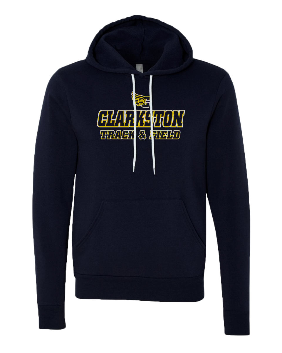 Clarkston T&F - Navy Sponge Sweatshirt - Clarkston Track Logo