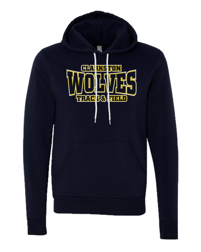 Clarkston T&F - Navy Sponge Sweatshirt - Wolves Logo