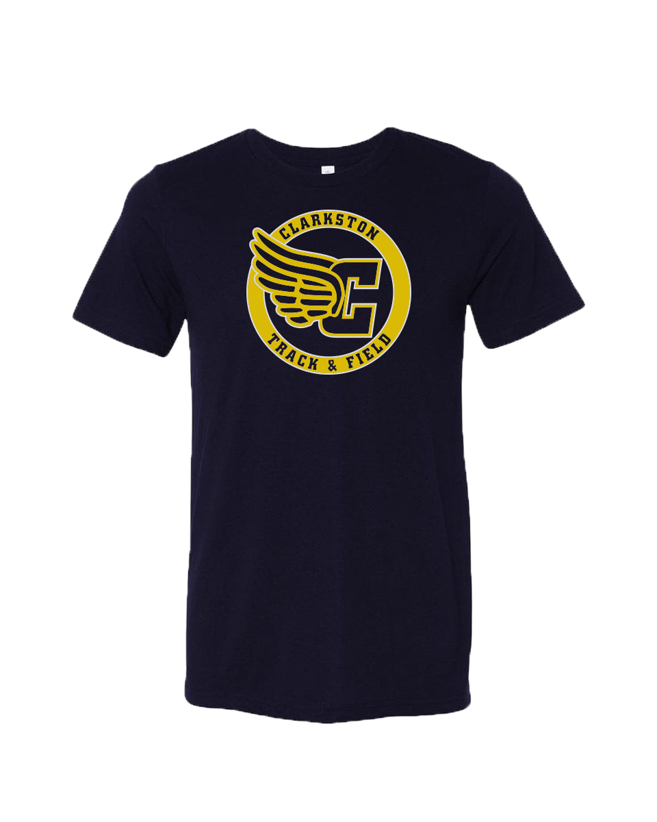 Clarkston T&F Winged C Triblend Tee - Navy