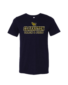 Clarkston T&F Logo Triblend Tee - Navy