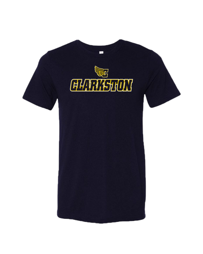 Clarkston Winged C Logo Triblend Tee - Navy