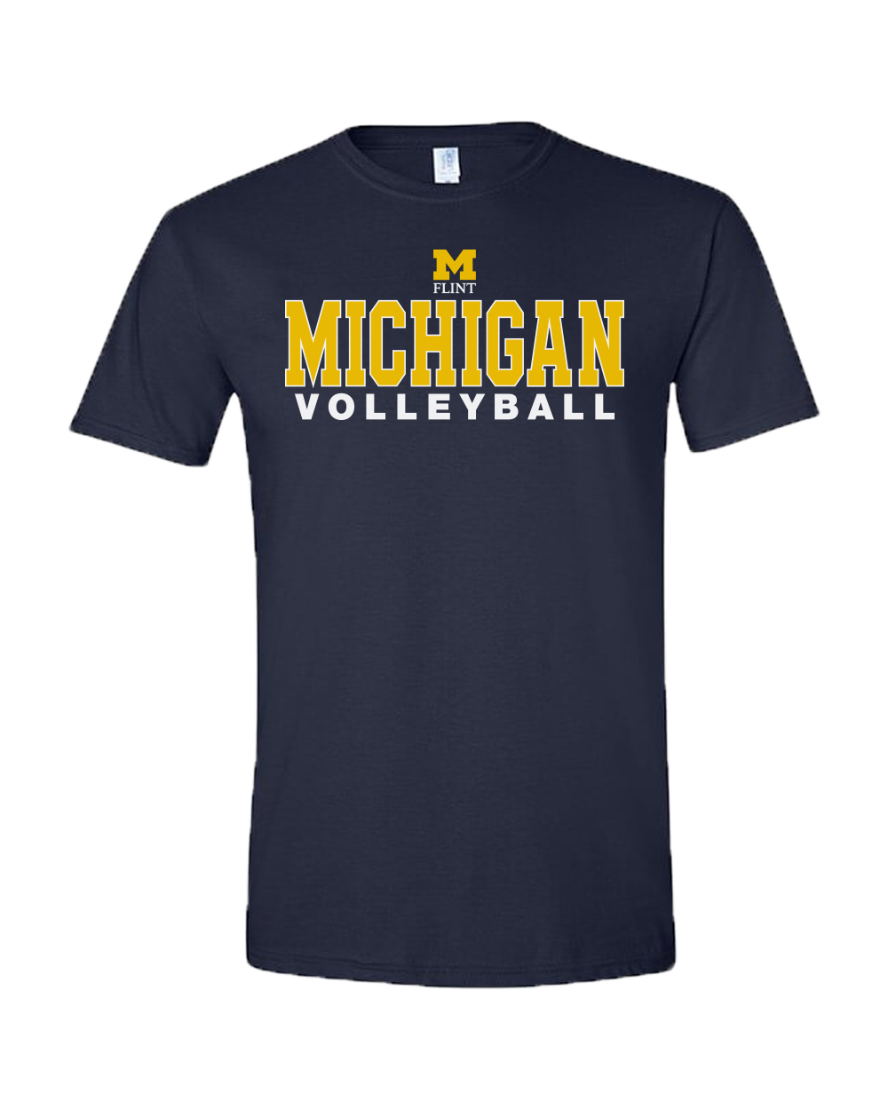 UNISEX Michigan Volleyball Design Navy Short Sleeve Tee