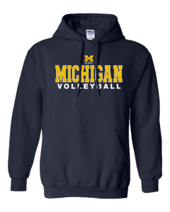Michigan Volleyball Design Navy Hoodie