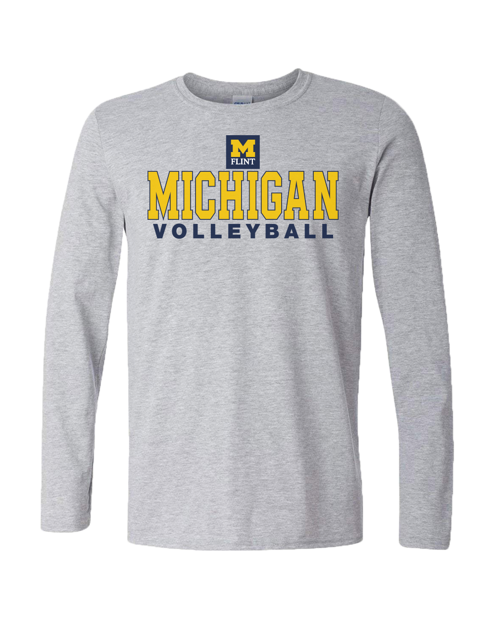 UNISEX Michigan Volleyball Design Sport Grey Long Sleeve Tee