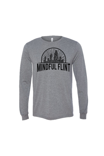 Mindful Flint Long Sleeve Triblend Tee - Grey