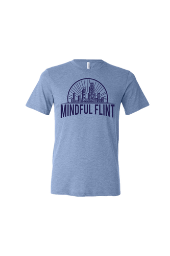 Mindful Flint Triblend Tee - Blue